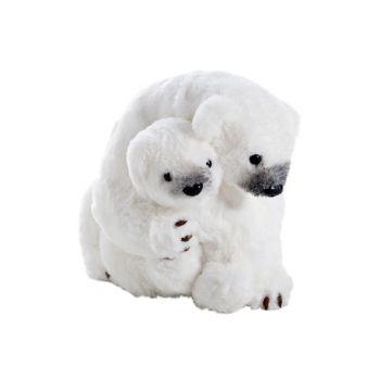 Cosy @ Home Cuddling Ijsberen  Wit 28x23h22cm