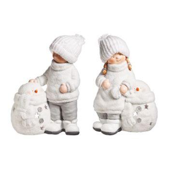 Cosy @ Home Theelichth Kind Sneeuwm Wit 31x19x44cm 2