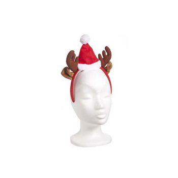 Cosy @ Home Diadeem Rendier Met Kerstmuts