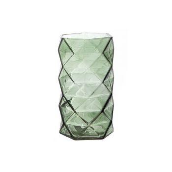 Cosy @ Home T-lichth Geometrisch Groen 11x11x19.3cm