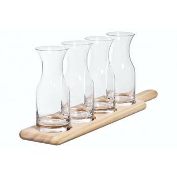Cosy & Trendy Degustatie Set Plank - 4 Caraf 285ml