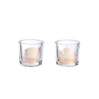 Cosy @ Home Theelichtglas Helder Koperblad 2 Types