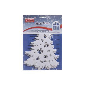 Goodmark Raamstickers Snow Kerstboom Set5 Vilt