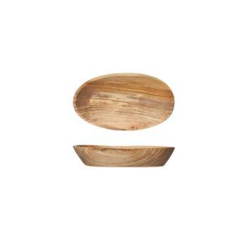 Cosy & Trendy Ovaal Schaaltje 12cmx8-9cm Olijfhout