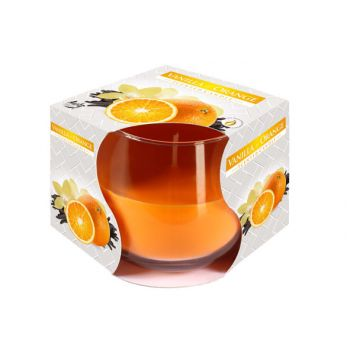 Cosy & Trendy Ct Geurkaars Glas Vanille-oranje 24u