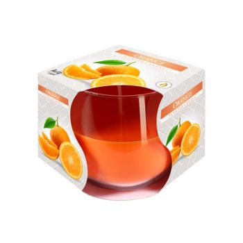 Cosy & Trendy Ct Geurkaars Glas Orange-oranje