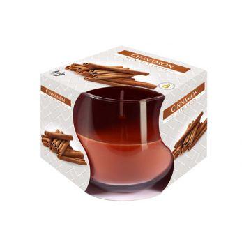 Cosy & Trendy Ct Geurkaars Glas Cinnamon-bruin 24u