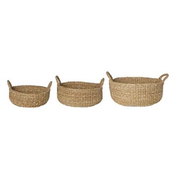 Cosy @ Home Houtmand  Set3 Natuur Rond Seagrass