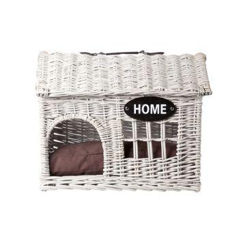 Cosy & Trendy Hond-kat Huisje Riet 'home' 54x39xh44cm