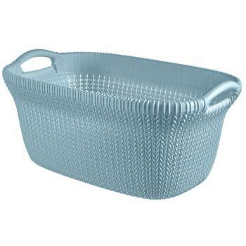 Curver Knit Wasmand 40l Misty Blue