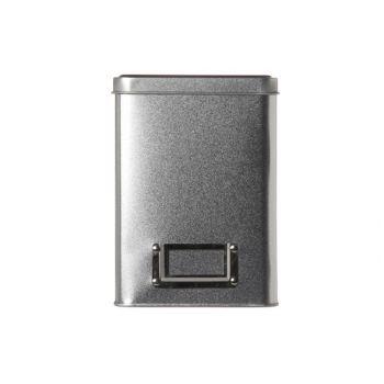 Cosy & Trendy Theedoos Dun Zilver 10.8x10.8xh15cm
