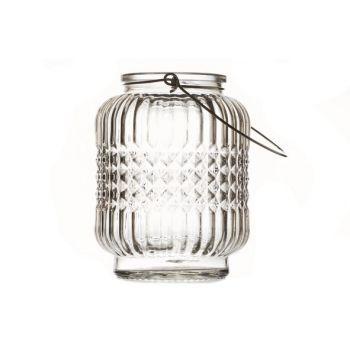 Cosy @ Home Lantaarn London Glas L.bruin 9x9x12cm