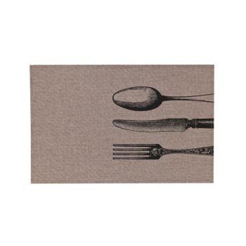 Cosy & Trendy Placemat Poly-linen Bruin -print Zwart