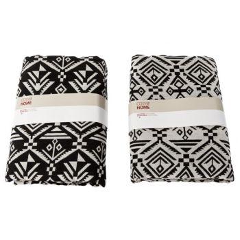 Cosy @ Home Inca Decostof Zwart Grijs 2 Types 1.5x2m