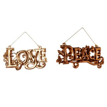 Cosy @ Home Love Peace Hang 2 Types Koper 12xh6cm