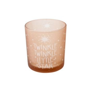 Cosy @ Home Theelichth Twinkle Twinkle Pink D7x8cm