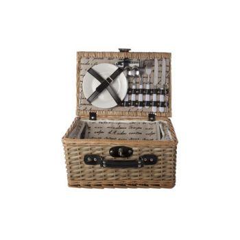 Cosy & Trendy Picknickmand 2p-bestek-borden-glazen-