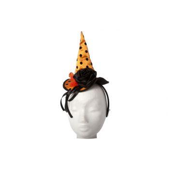 Cosy @ Home Diadeem Heksenhoed Oranje Dots Zwart