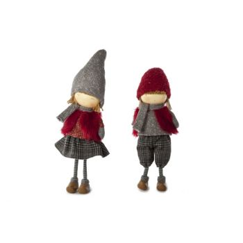Cosy @ Home Lena Girl Staand 2 Types 13x10x52cm Rood