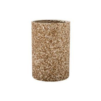 Cosy @ Home Theelichtglas Stone Champagne D9xh13.5cm