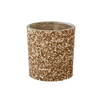 Cosy @ Home Theelichtglas Stone Goud D7xh8cm