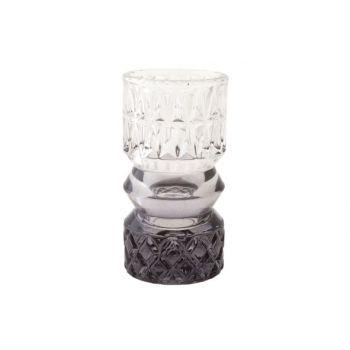 Cosy @ Home Theelichtglas Milan Grijs D7xh13,5cm