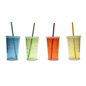 Cosy & Trendy Summer Party Glas D9xh14.5cm Set 4 Types
