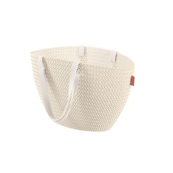 Curver Knit Emily Shopping Basket Oasis White