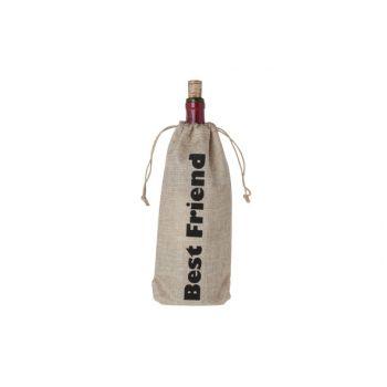 Cosy & Trendy Wijntasje 'best Friend' 15xh30cm