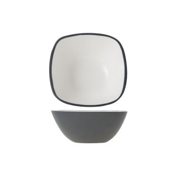 Cosy & Trendy Alu Bowl 12.5xh5cm Wit Email Graphite Gr