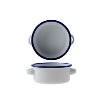 Cosy & Trendy Kom Rond D11xh4.5cm Wit Geemail. Staal