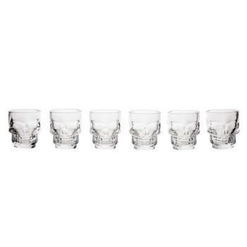Cosy & Trendy Skull Shotglas Tiki D5x5,8cm Set6 4cl