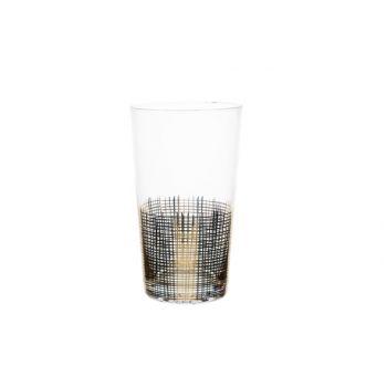 Cosy & Trendy Glas Goud Set4 25cl D8,5x17,4cm