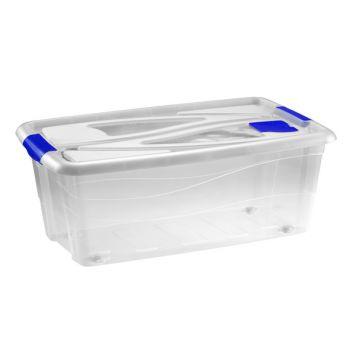 Hega Hogar Textielbox Box Met Wielen Transparant 65