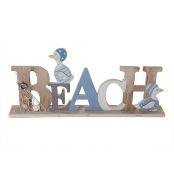 Cosy @ Home Beach Letterdeco Blauw Hout 40x5xh17cm