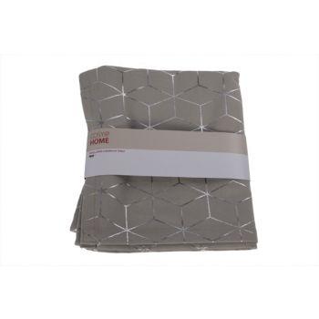 Cosy @ Home Tafelloper Geometric Silver Grijs 180x