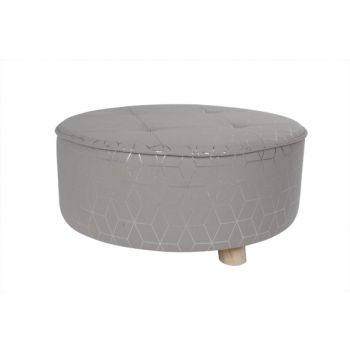 Cosy @ Home Kruk Geomtric Silver Gijs  D50xh21cm