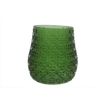 Cosy @ Home Windlicht Oslo Glas Groen 18x18x18cm
