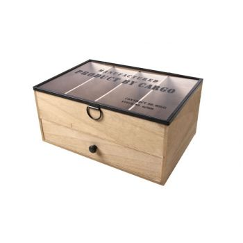 Cosy @ Home Ny Opbergbox  Natuur Hout 28x19xh13cm