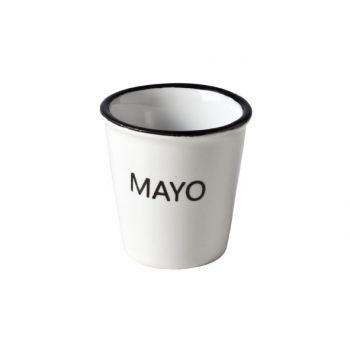 Cosy & Trendy Hrc Potje Met Tekst 'mayo'  D4.9xh4.9cm