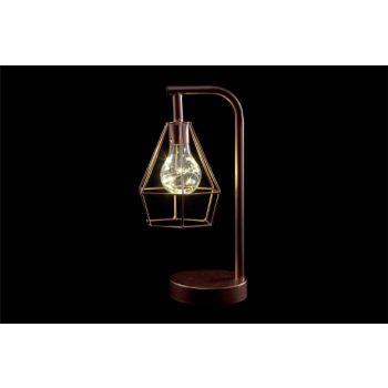 Cosy @ Home Lamp Koper Metaal 15,5x12,5xh30,5 Geomet