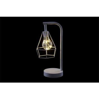 Cosy @ Home Lamp Wit Metaal 15,5x12,5xh30,5 Geometri