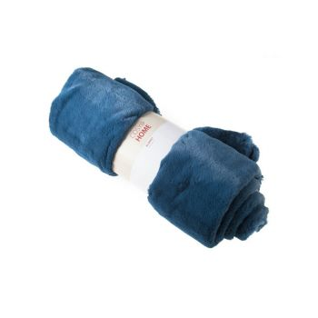 Cosy @ Home Deken  Petroleum Blauw Wol 140x160xh0 Wi