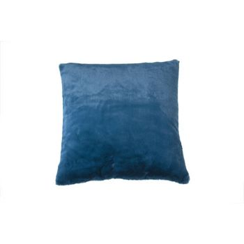 Cosy @ Home Kussen   Petroleum Blauw Vierkant Textie