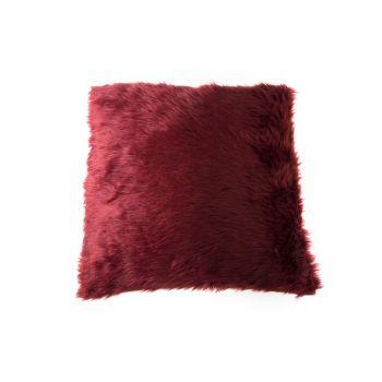 Cosy @ Home Kussen Bont Bordeaux45x45cm Synthetisch