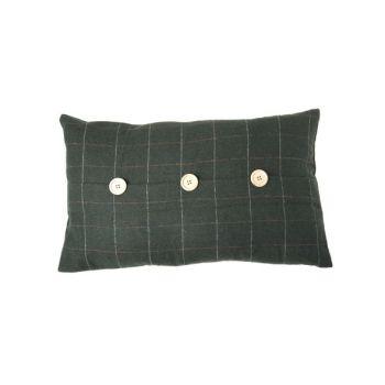 Cosy @ Home Kussen  Groen Rechthoek Textiel 50x30xh0