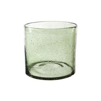 Cosy @ Home Windlicht Groen Cilindrisch Glas 14,8x14