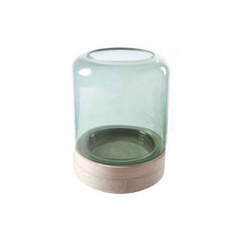Cosy @ Home Windlicht Groen Cilindrisch Glas 18x18xh