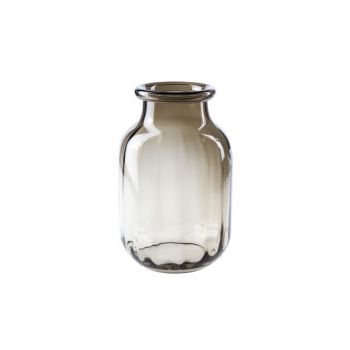Cosy @ Home Vaas Bruin Rond Glas 18x18xh26 Optic
