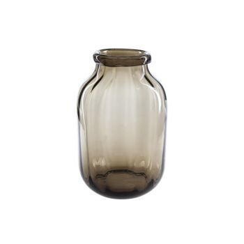 Cosy @ Home Vaas Bruin Rond Glas 20,5x20,5xh32 Optic
